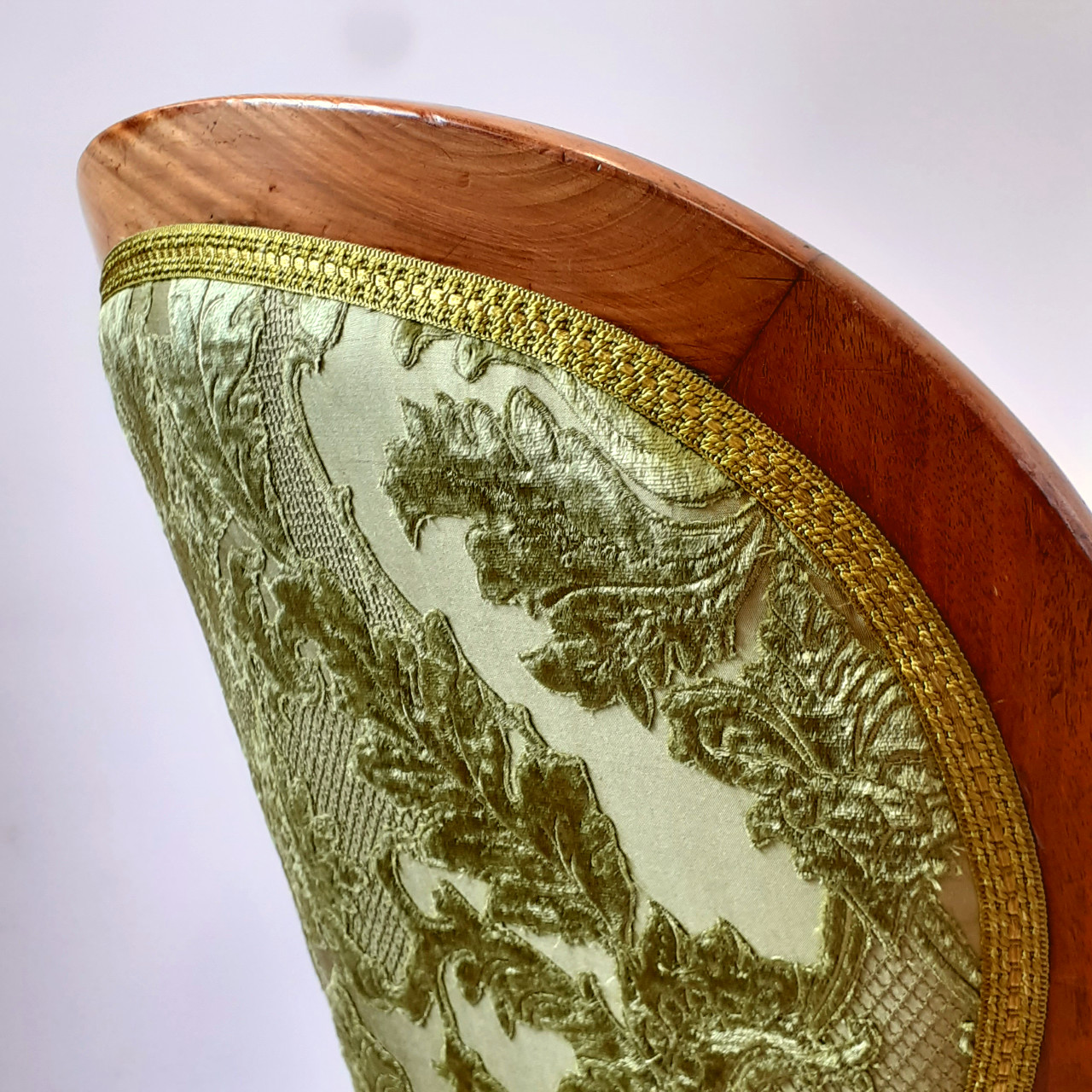 Detail of the back of the nursing chair