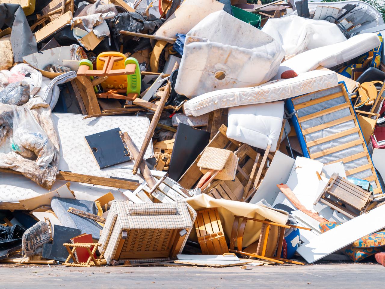 Furniture sent to landfill
