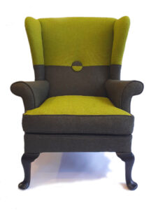 Timeless classic - Parker Knoll wing chair in Tweed by Bute - 100% natural filling and fabric.