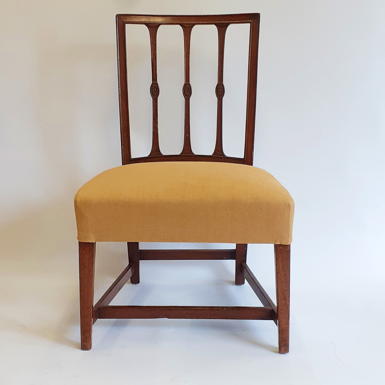 occasional chair in ochre linen