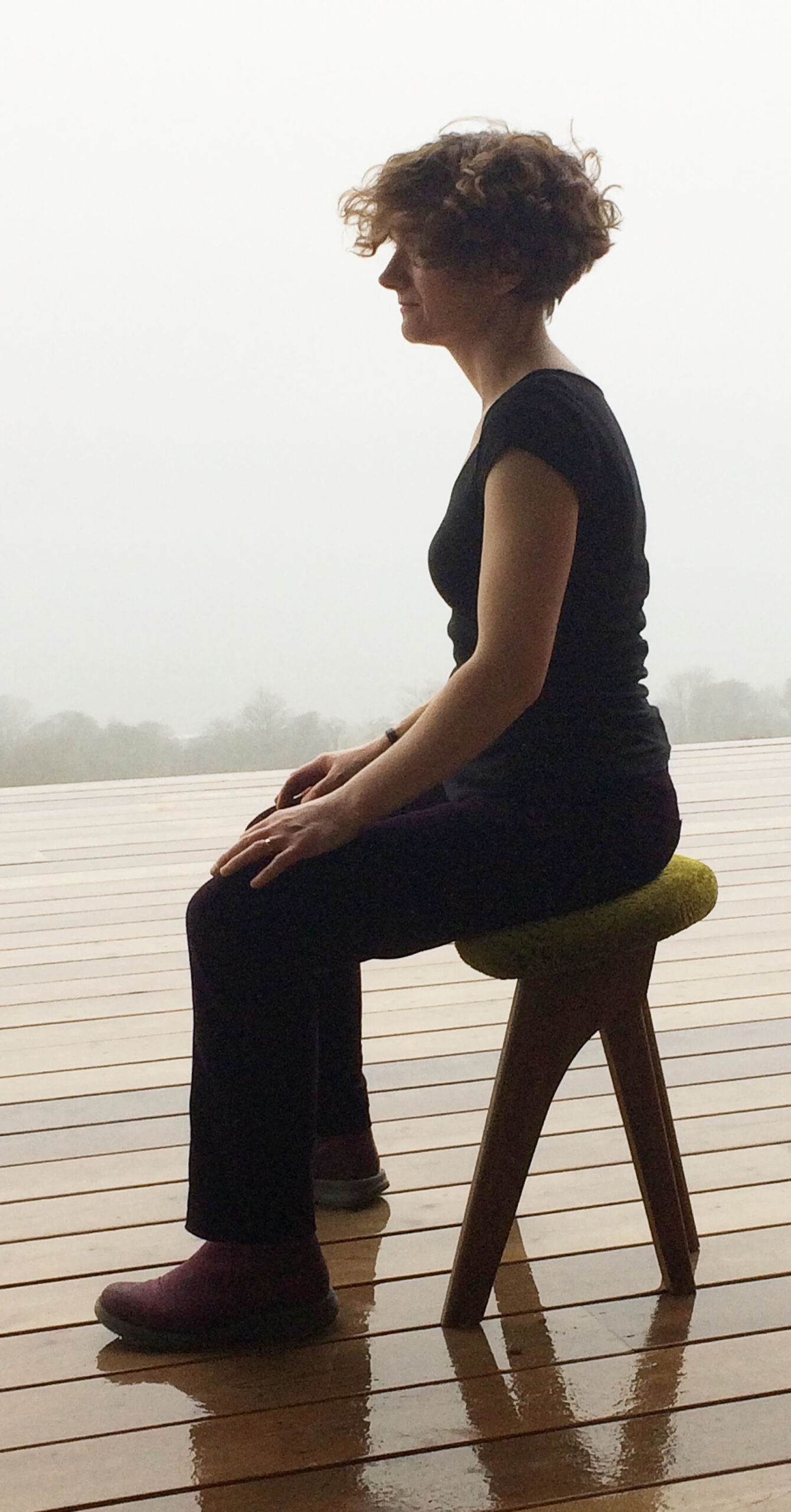 Sitting with a natural posture