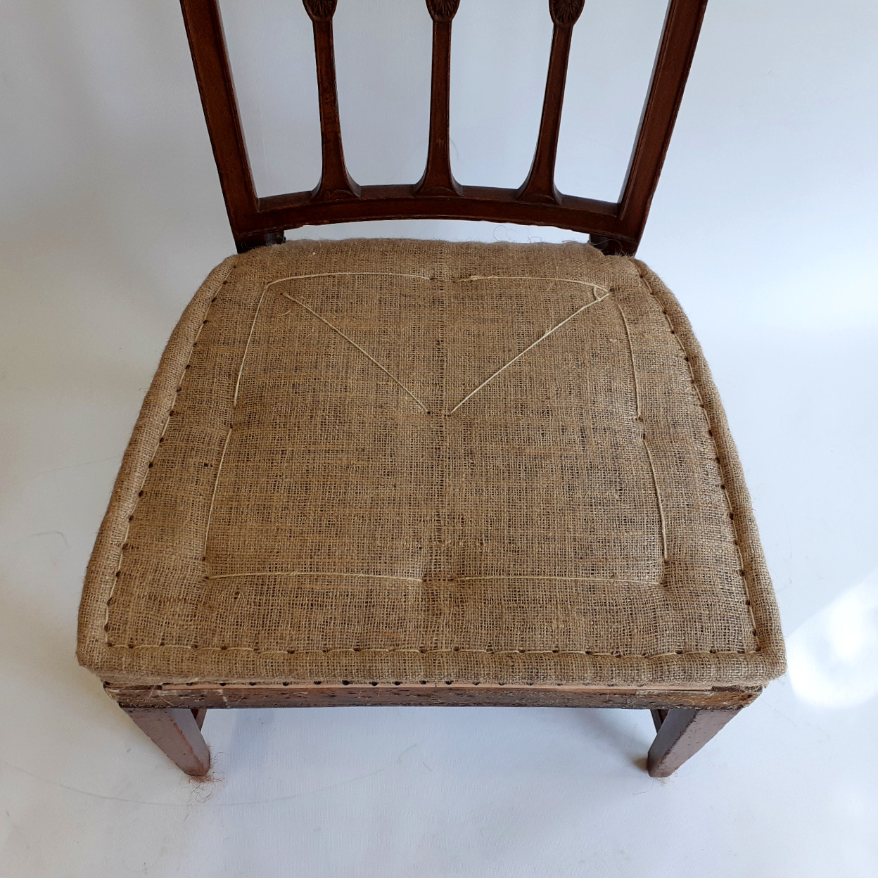 Traditionally upholstery stitching technique